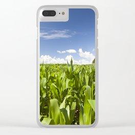 corn field Clear iPhone Case