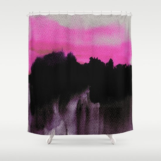 Deconstructed Horizon Shower Curtain