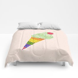 Colorful Ice Cream Cone Design Comforters