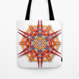 abstract mandala harsh sunlight Tote Bag