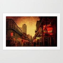 Bourbon Street Grunge Art Print