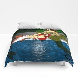 Medusa and the Mermaid (Darrell Merrill) Comforters