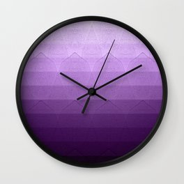 geometric pattern purple, pink and black Wall Clock