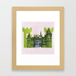 Letterpress Castle 1 Framed Art Print