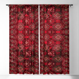 N129 - Epic Royal Red Oriental Traditional Moroccan Style Fabric Design  Blackout Curtain