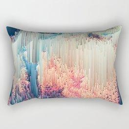 Fairyland - Abstract Glitchy Pixel Art Rectangular Pillow