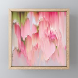 Artsy abstract blush pink watercolor brushstrokes Framed Mini Art Print