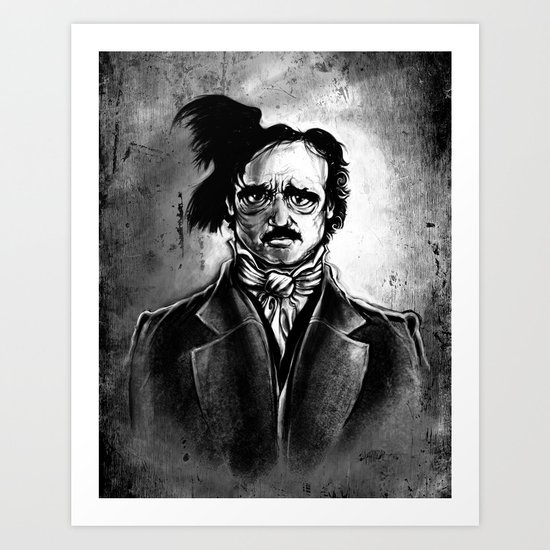 Edgar Allan Poe - I am the Raven Art Print