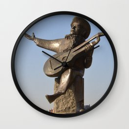 Lute Player Sculpture Stockholm Wall Clock