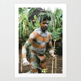 Papua New Guinea Villager Art Print