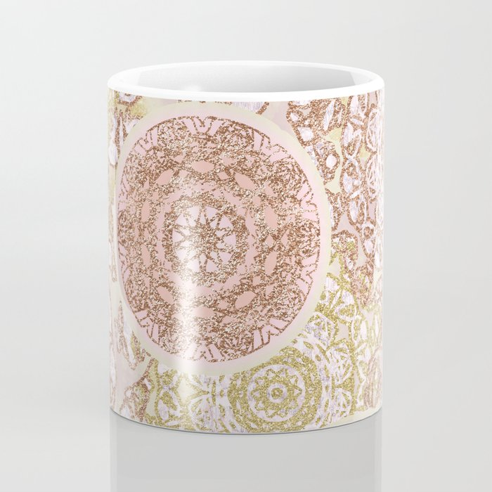 Rosey Gold Mandalas Coffee Mug