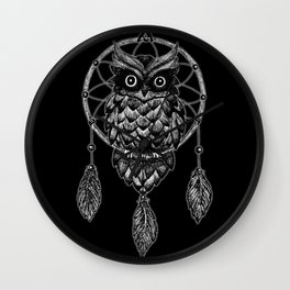 Dream Catcher Owl Wall Clock