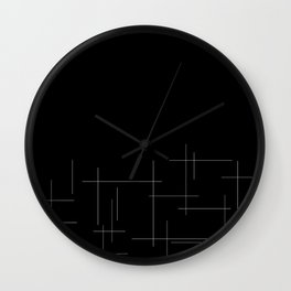 Black crosshatch Wall Clock