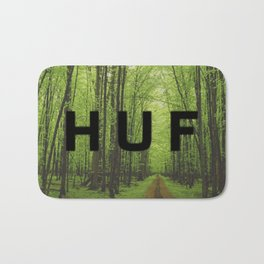 HUF Trail in Woods Bath Mat