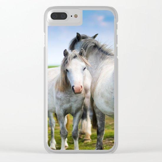 Horses Horses 4 Clear iPhone Case