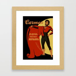 Carmen Opera (Toreador) Framed Art Print