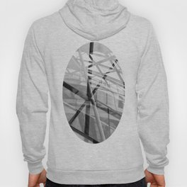 Black and White Modern Architectural Photograph Hoody