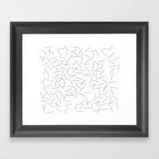 bobby pins Framed Art Print