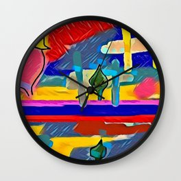 Abs Painting 869 Wall Clock