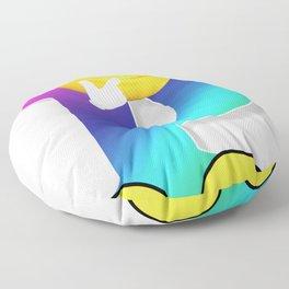 Letter P Alphabet Smiley Monogram Face Emoji Shirt for Men Women Kids Floor Pillow