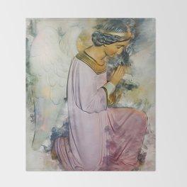 Praying Angel Throw Blanket