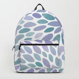 Festive, Flower Bloom, Purple and Teal, Floral Prints Backpack