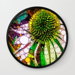 Prickly flower to you Wall Clock