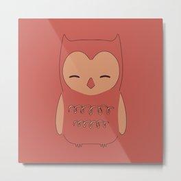 Owl illustration minimalist Metal Print