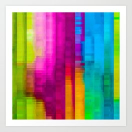 Vertical Rainbow Color Palette Art Print