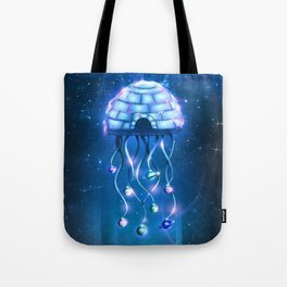 Christmas Jellyfish Tote Bag