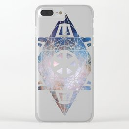 Metatron's Cube Time Wheel ~ Orion 2 Clear iPhone Case