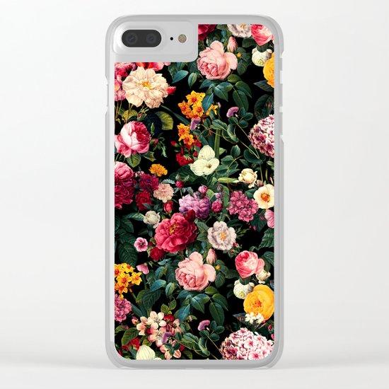 Floral D Clear iPhone Case