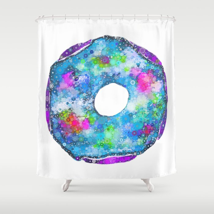 Psychedelic Phrosted Doughnut Baker's Dozen #2 Shower Curtain