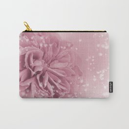 Light Pink Rose with hearts #1 #floral #art #society6 Carry-All Pouch