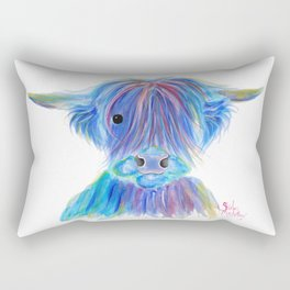 Scottish Highland Cow ' HIGHLAND BLOO ' by Shirley macArthur Rectangular Pillow