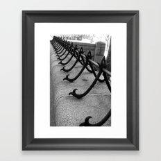 Cast Iron Walk Framed Art Print