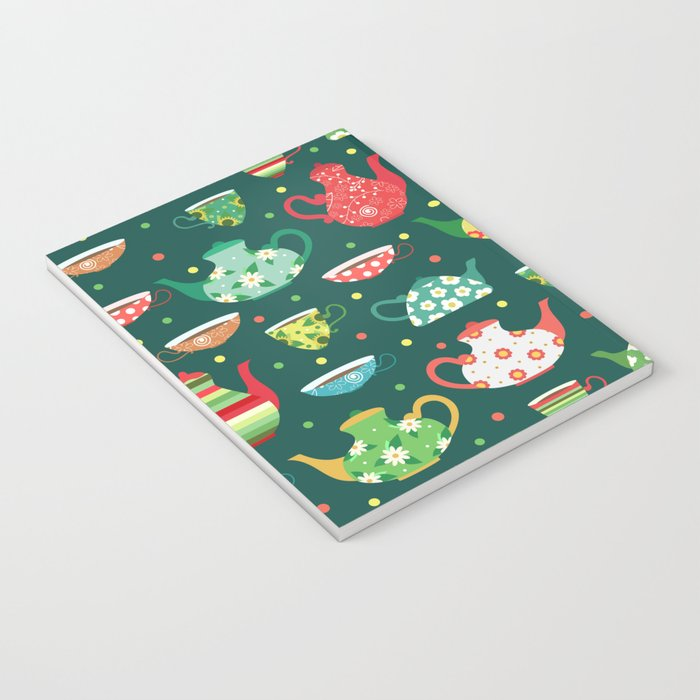 Tea pattern Notebook
