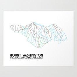 Mount Washington Alpine Resort, BC, Canada - Minimalist Trail Art Art Print