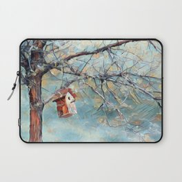 A Chickadees Home Laptop Sleeve
