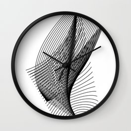 """Script Collection"" - Minimal Letter U Print Wall Clock"
