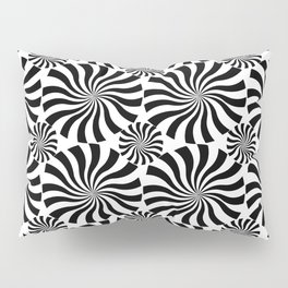 Black Twirl Pillow Sham