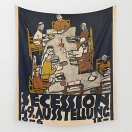 """Egon Schiele """"Secession 49. Exhibition"""" Wall Tapestry"""