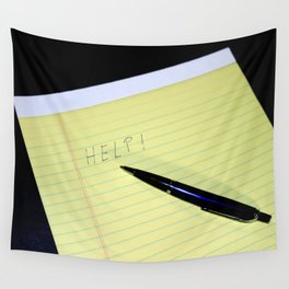 Notepad Pen Help Wall Tapestry