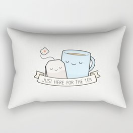 Just Here For The Tea Rectangular Pillow
