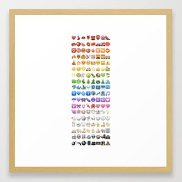 Emoji icons by colors Framed Art Print