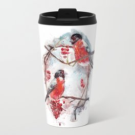 Bullfinches Travel Mug