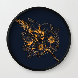 Orchid IV Wall Clock