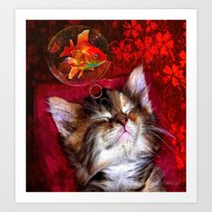 Dream sweet dream Art Print