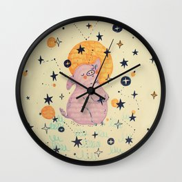 little pig - chinese horoscope Wall Clock