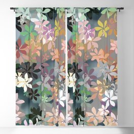 Peachy Flower Garden Blackout Curtain